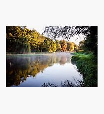 Sunrise and mist on River Test Photographic Print