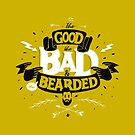 THE GOOD THE BAD AND THE BEARDED full yellow by snevi