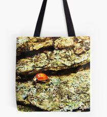 Ladybug on Bark Tote Bag
