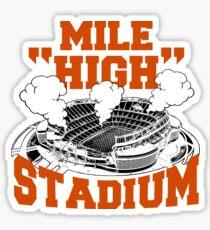 Mile high stadium . Sticker