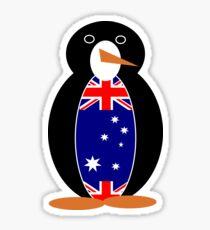 Australian Flag on Mr. Penguin Sticker