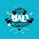 THE GOOD THE BAD AND THE BEARDED full blue by snevi