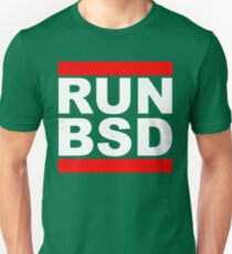 RUN BSD - Parody Design for Unix Hackers / Sysadmins Unisex T-Shirt