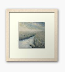 Flowing to the sea Framed Print