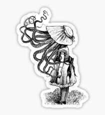 Victorian Squid faced girl Sticker