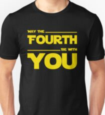 May The Fourth Be With You - Yellow/Dark Parody Design for Geeks T-Shirt