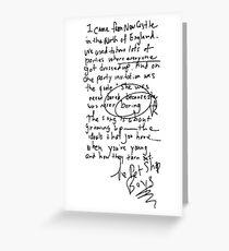 Being Boring - Pet Shop Boys Greeting Card