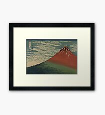 Gaifu kaisei - Hokusai Katsushika - 1890 Framed Print