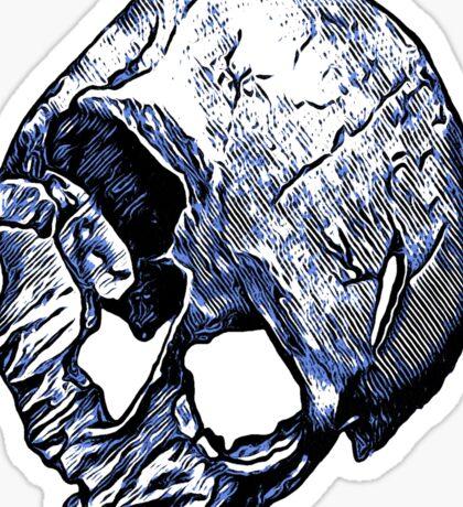 Human Skull Sticker