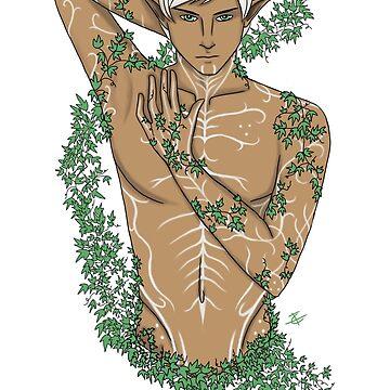 Fenris In The Ivy - Dragon Age II Fan Art by ClimbTheIvy
