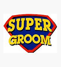 Super Groom Photographic Print