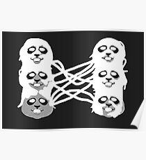 Ghost Panda Party Poster