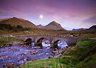 Isle of Skye Moonrise by Angie Latham