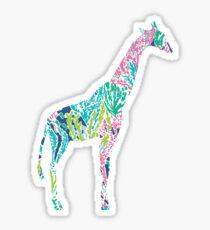 Lilly Pulitzer Geometric Giraffe Sticker
