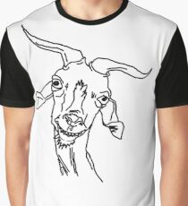 Crazy Goat Camiseta gráfica