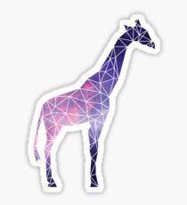 Galaxy Geometric Giraffe Sticker