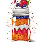 Strawberry and Blueberry shortcake in a jar by Julia Henze