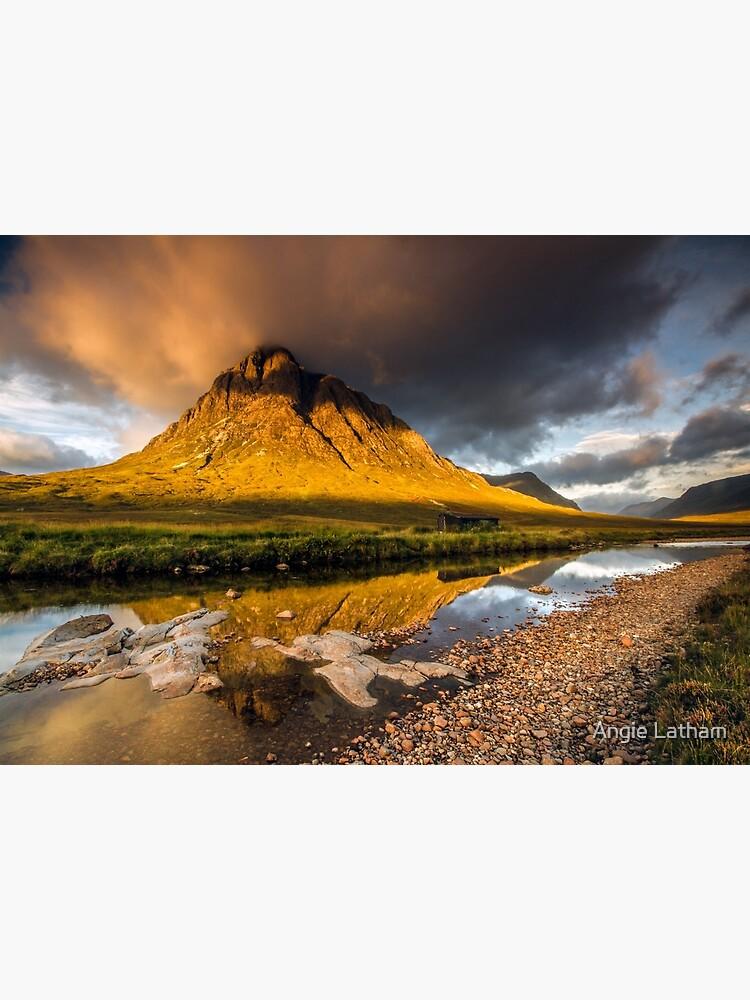 Golden light on Buachaille Etive Mor Scotland by AngelaBarnett