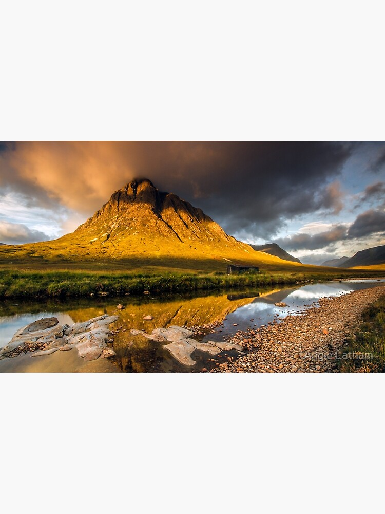 Golden light on Buachaille Etive Mor Scotland by AngelaBarnett
