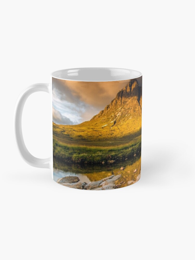 Alternate view of Golden light on Buachaille Etive Mor Scotland Mug