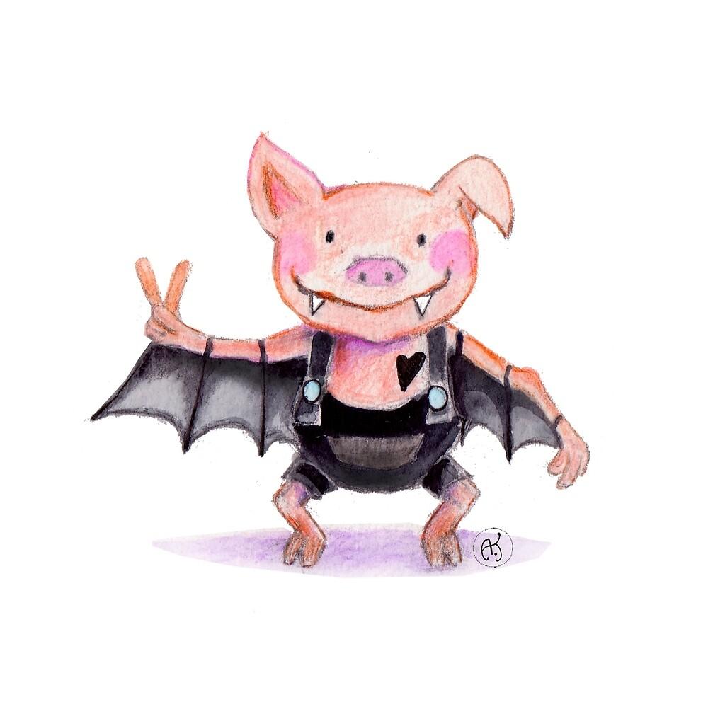 Fledermaus-Schweinchen von Ideenmarkt