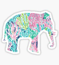 Lilly Pulitzer Geometric Elephant Sticker