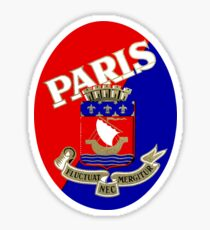 1925 Paris Luggage Label Sticker