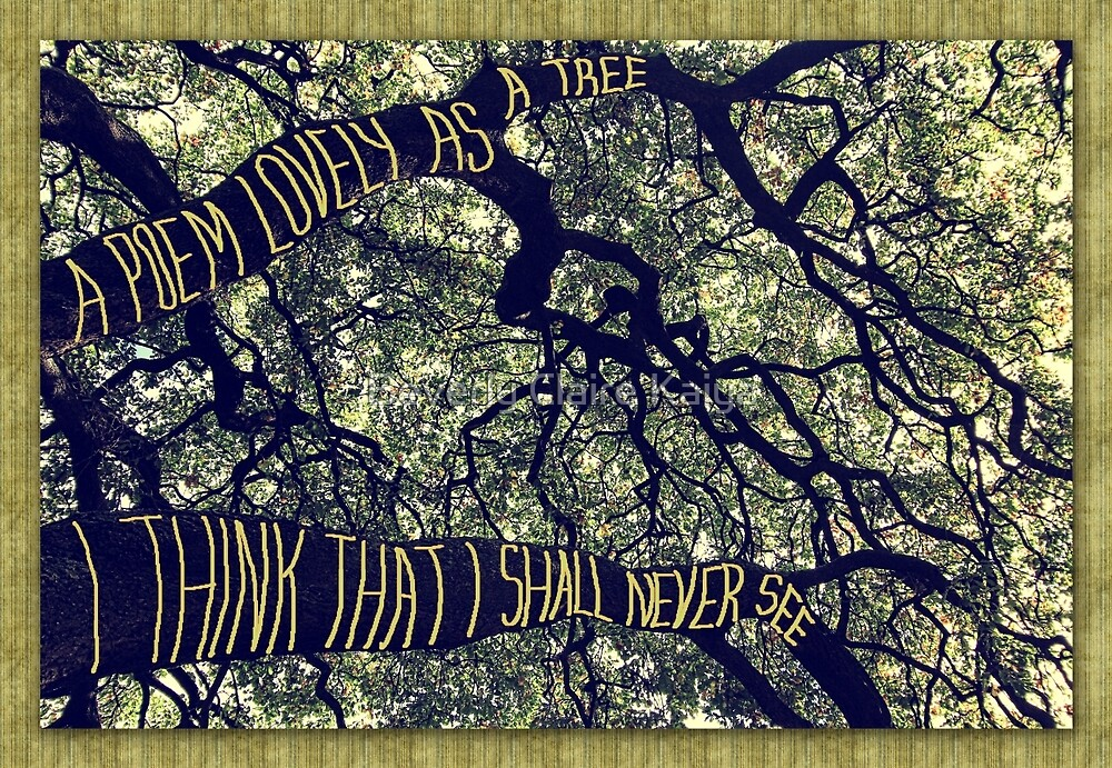 Branches of a Big Oak Tree A Poem Lovely as a Tree by Beverly Claire Kaiya