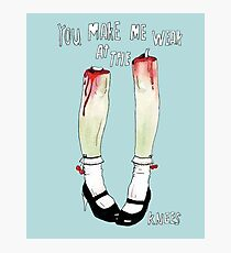 you make me weak at the knees Photographic Print