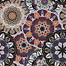 Vintage dekorative Elemente. Hand gezeichneter Hintergrund. Islam, arabisch, indisch, osmanische Motive. Perfekt zum Bedrucken von Stoff oder Papier. von Viktoriia