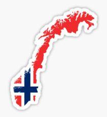 Norway Flag Map Sticker