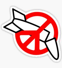 Peace No War (Peace Symbol) Sticker