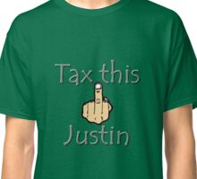 Canada Justin Trudeau Carbon Tax Middle Finger Classic T-Shirt