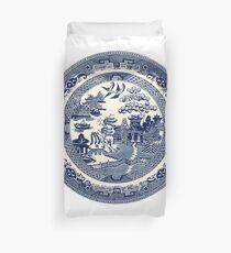 China Blaue Weide Bettbezug
