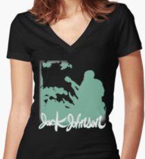 Jack Johnson Tee 2.0 Women's Fitted V-Neck T-Shirt