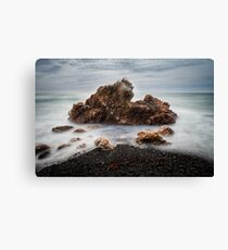 Rocks on a windy day, Boat Harbour, Tasmania Canvas Print