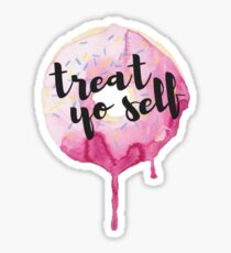 Treat Yo Self Donut Sticker