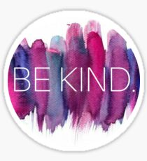 Be Kind Watercolor Sticker