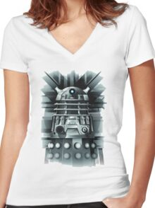 Dalek- Dr who Women's Fitted V-Neck T-Shirt