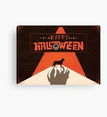 Hounds of Baskerville - Sherlock Halloween Card Canvas Print