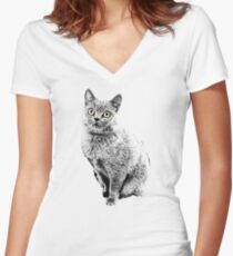 Stone Cate Women's Fitted V-Neck T-Shirt