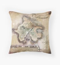 Classic Neverland Map Blanket King Size Throw Pillow