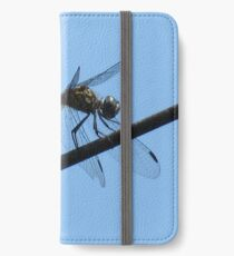 Blue dragonfly iPhone Wallet/Case/Skin