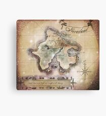 Classic Neverland Map Blanket King Size Canvas Print
