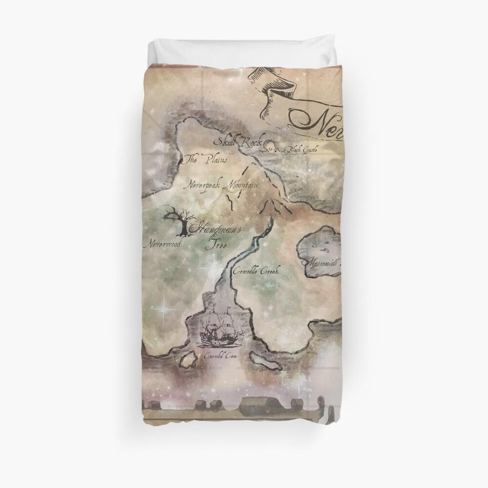 Manta de mapa de Neverland clásica King Size Funda nórdica