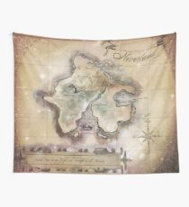 Classic Neverland Map Blanket King Size Wall Tapestry