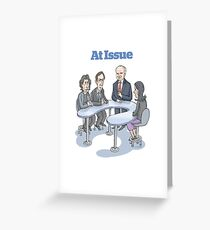 At Issue Panel Greeting Card