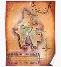 Twin Size Neverland Map Poster