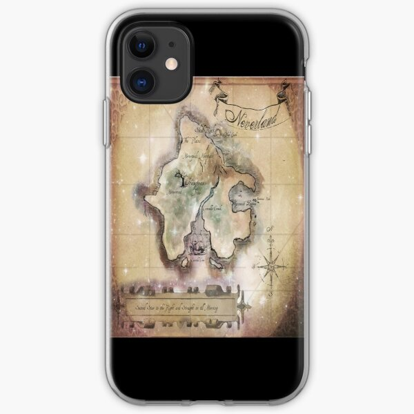 Twin size Classic Neverland Map iPhone Soft Case