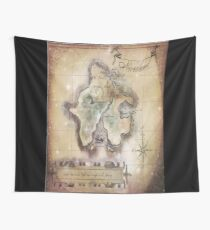 Twin size Classic Neverland Map Wall Tapestry